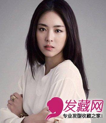 > 韩式发型扎法 9款韩式中分小脸添魅力(6)  导读:层次感的中分直发图片