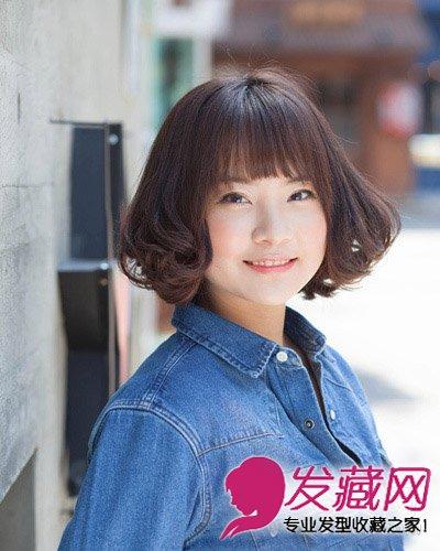 女生发型 女生发型与脸型 > 菱形脸也称为杏仁脸 中短发遮住高颧骨(6)