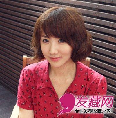 发型网 女生发型 女生发型与脸型 > 菱形脸也称为杏仁脸 中短发遮住高图片