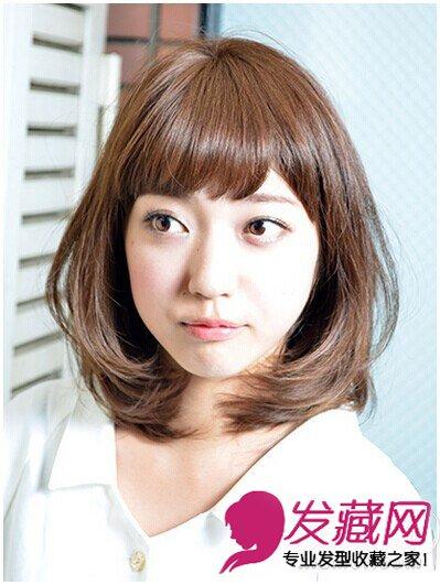 内卷梨花头发型 齐刘海斜分刘海显年轻风范