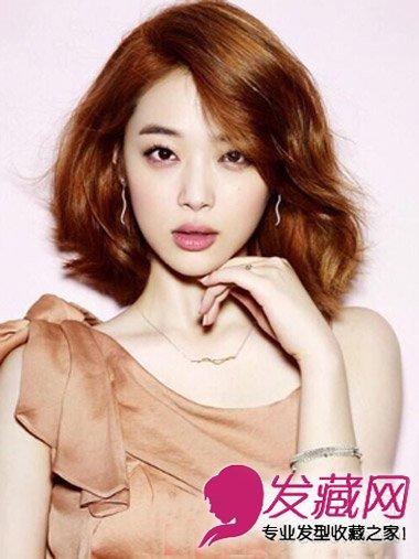 韩国女生换发型变瓜子脸 御姐气