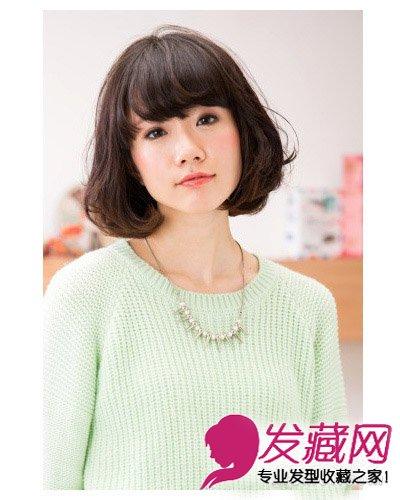 波波头时尚感烫发刘海设计  导读:什么样的发型才最百搭脸型呢?图片