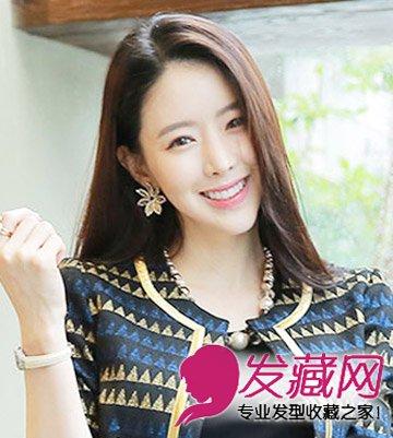 9款适合胖女生的发型 斜刘海清新瘦脸(5)图片