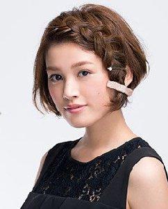 短发发型扎法时尚又甜美 除了编发还可以这样扎