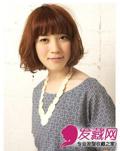 最新齐刘海短发发型扎法 齐刘海发型扎法(2)