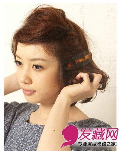 最新齐刘海短发发型扎法 齐刘海发型扎法(7)图片