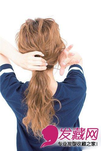 马尾辫时尚大变身 3款气质扎法图解(2)