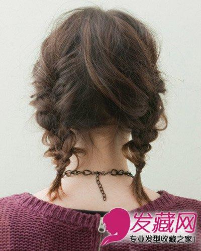 摆脱枯燥沉闷的发型 中长发编发好美(7)图片