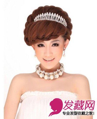 别致的欧式古典新娘发型