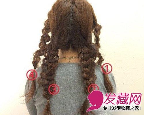 毛帽编发教程图解 冬天适合的编发发型(4)