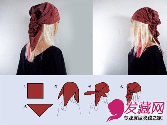 发型diy 编发教程 > 很仙很洋气 头巾的6种系法图解(5)  导读:二,三角图片
