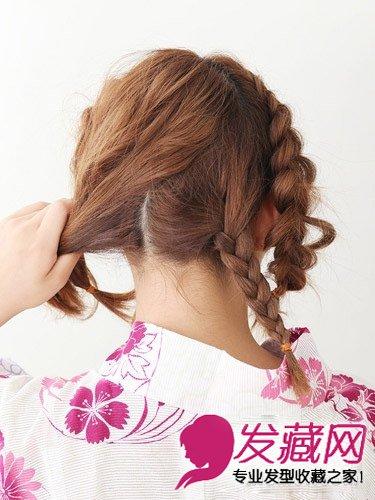 中长发发型扎法图解 辫子编发盘发更显别致感觉(6)