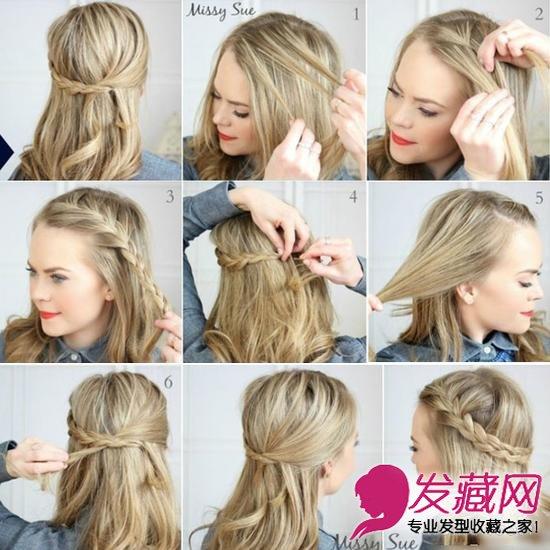 蓬松的长卷发发型 长发妹子学起来      可以说这款发型是编发刘海图片