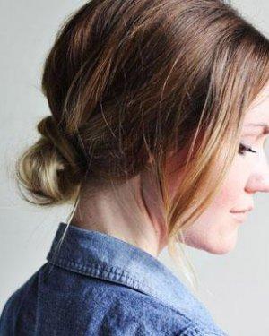 非常简单优雅的发型 diy两款气质发型图片