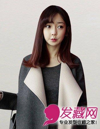 【图】清新韩式斜刘海发型图片 简单斜刘海女生中长发图片