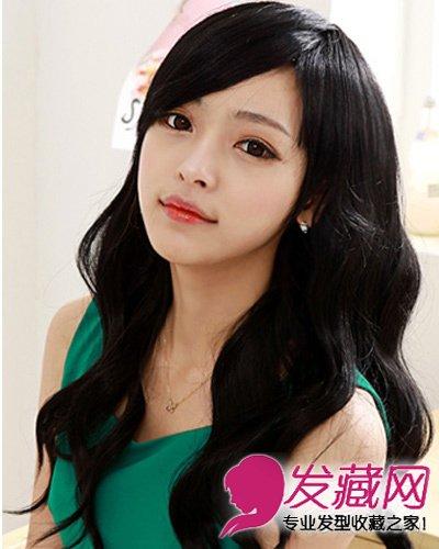 侧分大卷长刘海发型完美修颜 长发短发随心变(9)
