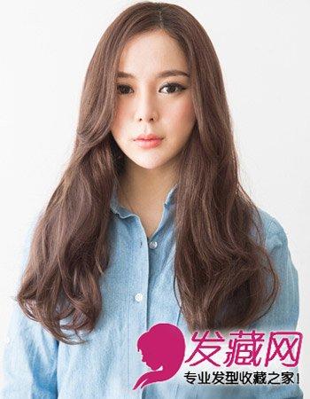 时尚气质冬季发型设计 韩式长发微卷发型图片
