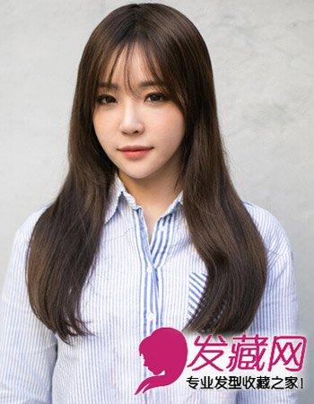 时尚气质冬季发型设计 韩式长发微卷发型(5)图片