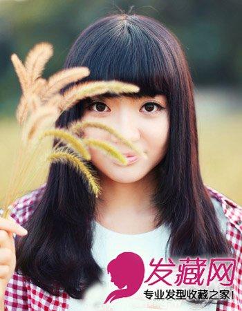中长发梨花头发型 中分短发最出彩(2)