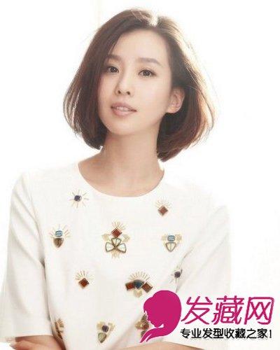 刘诗诗直发齐肩发型图片展示图片