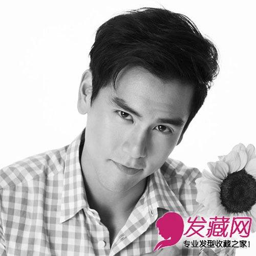 霸道总裁范 三七分刘海彭于晏酷帅短发盘点(9)图片