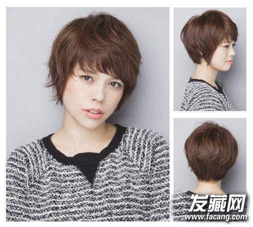 帅气 短发发型图片      微斜的刘海搭配鬓角轻松瘦脸,多梯度