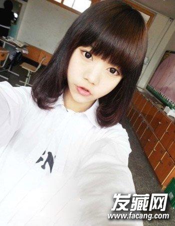 女生剪什么发型好看 柔顺的学生短发发型(8)图片