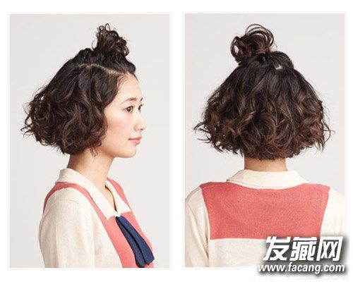 实用丸子头扎发教程 长发短发都适合(3)图片