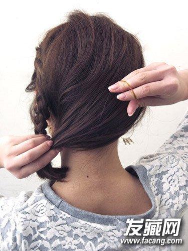法式编发好美腻 长发编辫子发型图解 →简单中长发盘发步骤图解