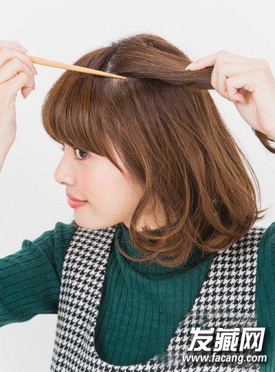 最新短发发型扎法 发箍编发甜美减龄(8)