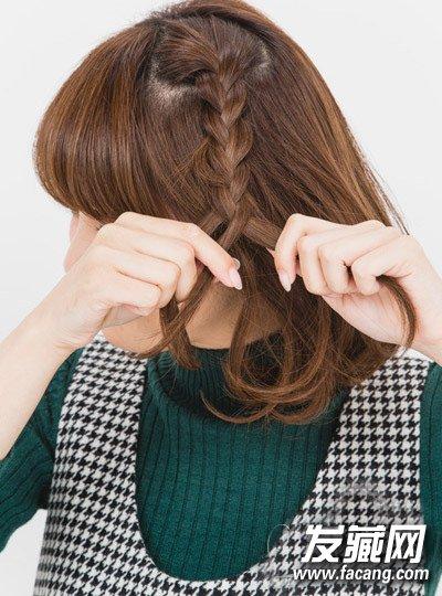 最新短发发型扎法 发箍编发甜美减龄(9)