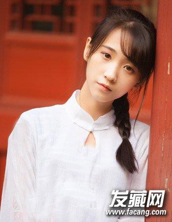 女生甜美发型扎法 可爱的小脸妹子发型(2)