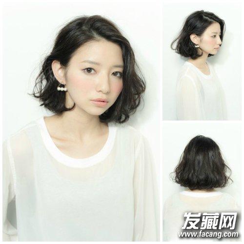 9款唯美韩式烫发发型 棕色的大波浪卷发 →好一计背影杀!图片