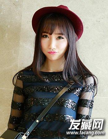 短发,盘 →常见就是齐刘海发型 女生哪种刘海最减龄 →网红靠齐刘海
