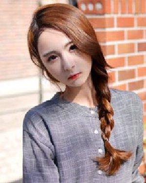 圆脸长发怎么扎好看 9款韩式麻花辫扎发塑气质V脸