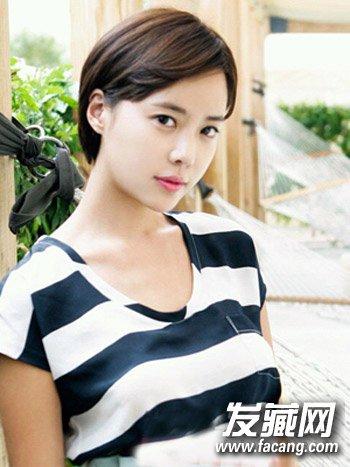 圆脸适合什么短发 清新韩式齐刘海波波头发型设计(8)图片