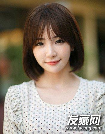 方脸女生适合的卷发发型 韩范十足的烫发设计(5)  导读:简单的中 短发图片