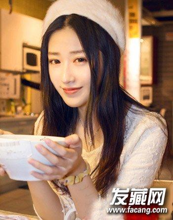 方脸女生适合的卷发发型 韩范十足的烫发设计(6)