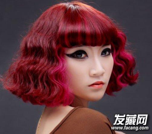【图】韩国短发水波纹烫发图片