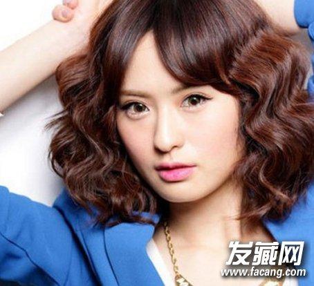 【图】韩国短发水波纹烫发图片(2)