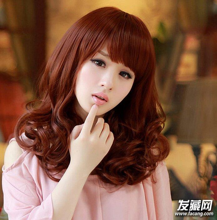 韩风潮流齐肩发烫发发型图片