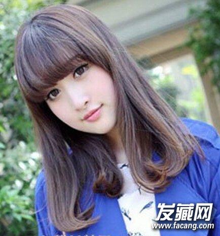 【图】夏日甜美中长发梨花头发型