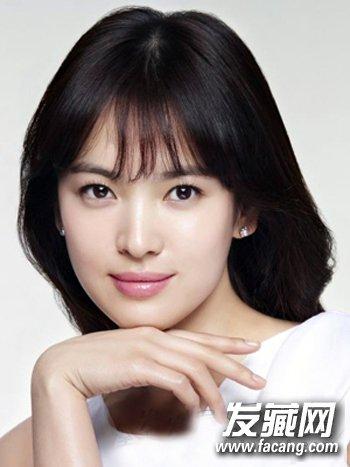 长脸适合什么发型? 韩式刘海清新呆萌(2)