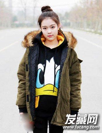 发型网 脸型发型 圆脸适合发型 > 圆脸长发可爱发型扎法 9款韩式小
