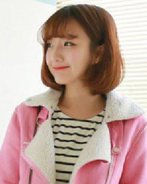 最流行款短发发型 头发少女生中短发波波头发型