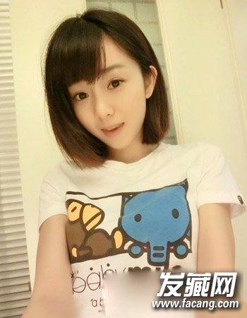 9款学生短发图片 柔顺短发发型勾勒青春甜美(8)
