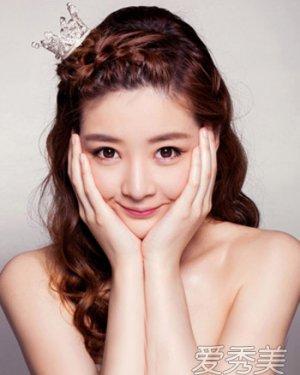 甜美韩式小清新新娘发型设计 清新气质的婚纱照发型
