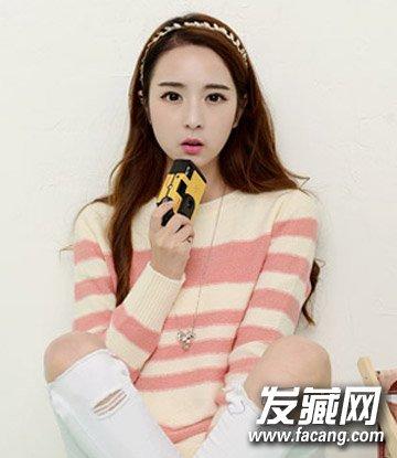 中学生适合韩式发型 俏皮气质韩式侧边马尾辫扎发(2)