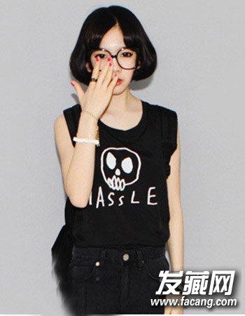 【图】韩国女生可爱短发发型