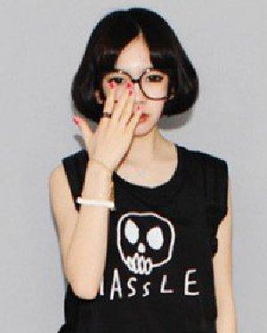 韩国女生可爱短发发型